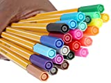 #7: SKYGLORY Hexagonal 0.4mm Fine Point Fineliner Drawing Sketching Color Pen, 24 Piece Set