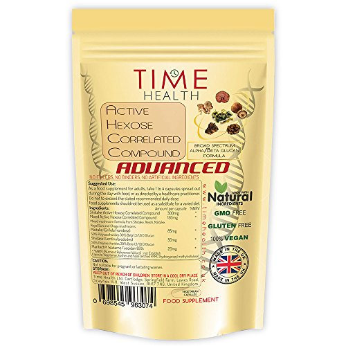 ADVANCED Active Hexose Correlated Compound Fucoidan Formula (120 Capsule Pouch)