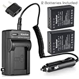 Kastar Camera Batteries (Pack Of 2) With Charger Kit For Olympus BLH-1 BLH1 & Olympus OM-D OMD E-M1 MARK II EM1 MARKII MARK2 Cameras