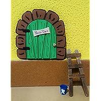 La puerta mágica del ratoncito Pérez personalizable. Incluye escalera y cubito para diente