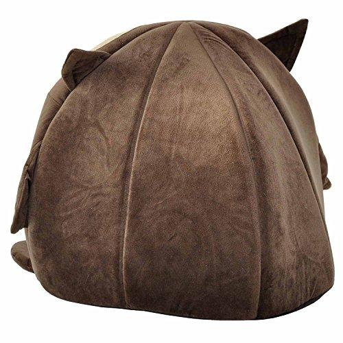 """nanook """"Sweety"""" – Hundehöhle Katzenhöhle – mit großem Kissen, wasserabweisend, rutschfest, Größe M (42 x 42 x 36 cm) – Motiv: Eule - 4"""