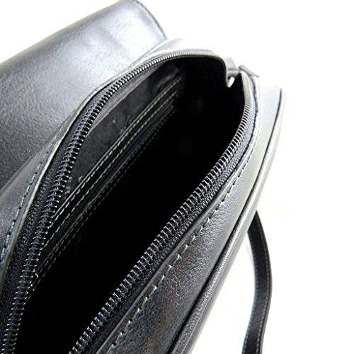 Bolso de hombro de cuero 'Vendôme'negro.