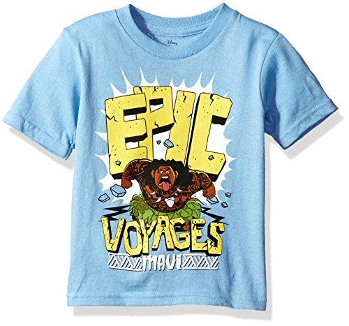 47b651244a792 Disney Toddler Boys' Moana Short Sleeve T-Shirt, Sky Blue, 4T