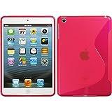 PhoneNatic Case für Apple iPad Mini 3 2 1 Hülle Silikon pink S-Style Cover iPad Mini 3 2 1 Tasche + 2 Schutzfolien