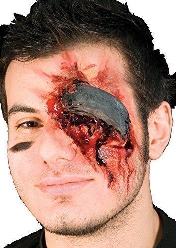 (Damen Herren Halloween Blutige Zombie Spezialeffekte Latex Make-up Kostüm Kleid Outfit Satz - Hockey Unfall, One Size, Einheitsgröße)