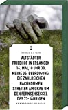 Image of Altstädter Friedhof in Erlangen, 14. Mai, 10 Uhr 30, meine 35. Beerdigung, die zahlreichen Nachkommen streiten am Grab um den Fernsehsessel des 73-Jährigen (Frankenkrimi)