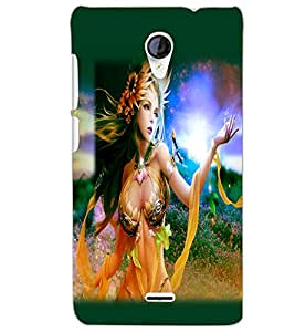 MICROMAX A106 UNITE 2T NATURE GIRL Back Cover by PRINTSWAG