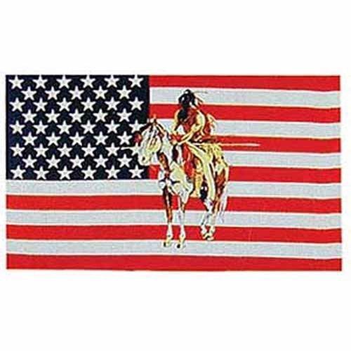 Usa Indian Pony Flag Poly 3Ft X 5Ft by Flag (Flag Pony)