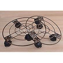 Frenos bandeja móvil de espesor circular Macetas Bonsai receptáculo de rueda de cangilones