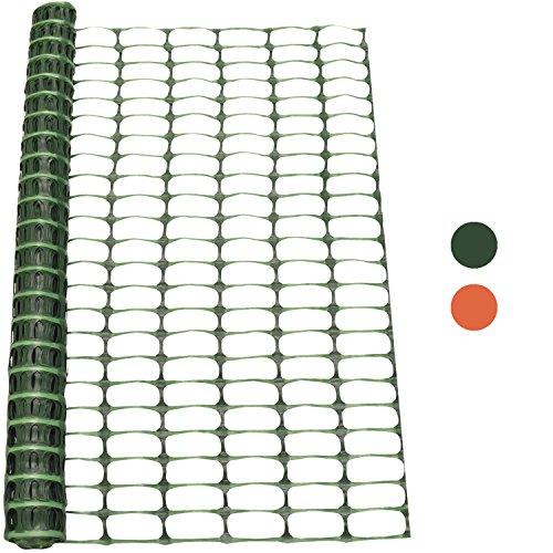 *Woodside – Kunststoff-Hühnerzaun – Maschengewebe – Grün – 1 x 25 m (H x L)*