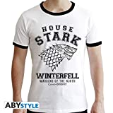 ABYstyle - Game of Thrones - Tshirt House Stark Homme Blanc (M)