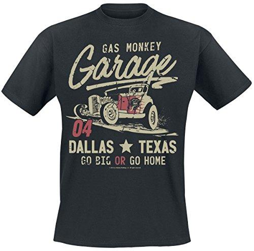 Gas Monkey Garage Go Big Or Go Home T-Shirt Black