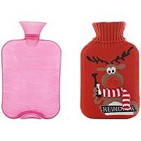 Tragbare Wärmflasche mit schöner Abdeckung - 2 Liter preisvergleich bei billige-tabletten.eu