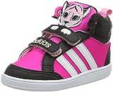 adidas Unisex Baby Hoops Animal CMF MID INF Sneaker, Black (Negbas/Ftwbla / Rosimp), 21 EU
