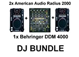 DJ Bundle American Audio Radius 2000 + Behringer DDM 4000 DJ Set