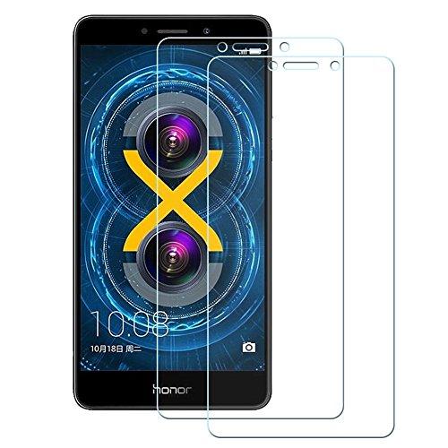 Okay Store Schutzfolie für Huawei Honor 6X, [2 Stück] Ultra-Klar 9H Härte Anti-Öl, Kratzer und Wasser Blasenfrei, Panzerglasfolie für Honor 6X (Transparent)