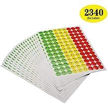 ONUPGO 2340 Smiley-Aufkleber Happy Face Incentive Sticker, Kreise Punkte, 19 mm, rund, Verhaltens-Sticker, Kreis-Etiketten, ideal für Lehrer, Eltern, Kunst, Handwerk, Belohnungskarten grün