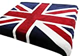 "Brithish Union Jack Flag Throw, Luxurious Soft Plush Fleece Throw Blanket Bedspread 59""x79"" for Bed Couch Sofa, Machine Washable"