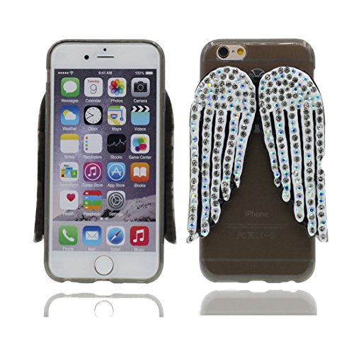 """Étui pour iPhone 7 plus, Slim (TPU Silicone Transparent Flexible) avec Petits Diamants Cristallins Retour coque pour iPhone 7 plus 5.5"""" ailes ,iPhone 7 plus case color 1"""