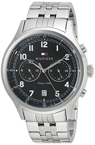 Tommy Hilfiger Men's 'SPORT' Quartz Stainless Steel Casual Watch, Color Silver-Toned (Model: 1791389)