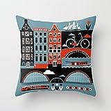 Die besten Pillowcase Home Fashion Kissen - Amsterdam Fashion Design Kissen Fall 45,7x 45,7cm Bewertungen
