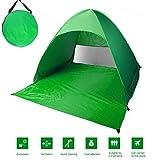 OUTAD Tenda Da Spiaggia Per Esterni, Tenda-Pop-Up, Portatile, Protezione Solare Per 2 o 3 Persone per con Borsa di Trasporto (Verde)