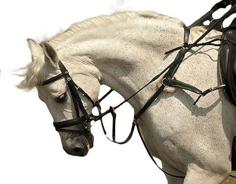 Rhinegold 5-Punkt-Vorderzeug Pony schwarz - schwarz