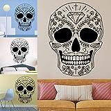 Roiper Halloween Decoration, Squelette Fond décoré Salon Arrière-Plan Chambre Stickers Autocollants Muraux