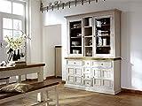 Buffet, Buffetschrank, Landhaus, Anrichte, Esszimmerschrank, Esszimmervitrine, Küchenschrank, Vitrinenschrank, Landhausstil, weiß, honigfarben,