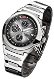 FIREFOX CLASSIC FFS06-104 sunray grau Chronograph Herrenuhr Armbanduhr Sicherheits- Faltschließe 10 ATM water resistant