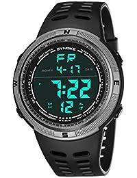 LONGQI WATCH - Reloj digital LED impermeable de 50 m para deportes al aire libre con