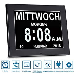 sinoideas upgrade von alarm uhr uhr digital kalender tag und stunde abk rzung buchstaben in. Black Bedroom Furniture Sets. Home Design Ideas