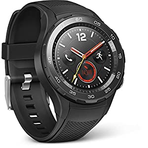 Huawei 55021666Smartwatch 2(4G/LTE, 4GB ROM, Android Wear, Bluetooth, WiFi) Carbon Negro Sport Strap