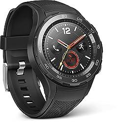 HUAWEI 55021666 Smartwatch 2 (4G/LTE, 4GB ROM, Android Wear, Bluetooth, WiFi) Carbon schwarz Sport Strap