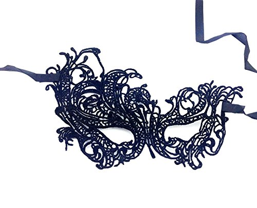 Vikenner donna Lace maschera veneziana pizzo costume Carnevale o festa Ball Face Eye Mask Fancy Dress make up Mask per donne regalo (nero)