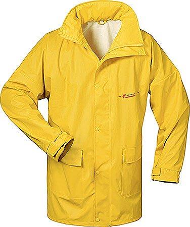 Norway PU Regen-Jacke mit Kapuze - gelb - Größe: XL