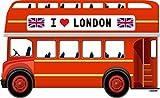 Oedim Photocall Autobús Londres 2,90x1,57cm | Decoración Ideal para Eventos o Celebraciones | Elegante y Económico