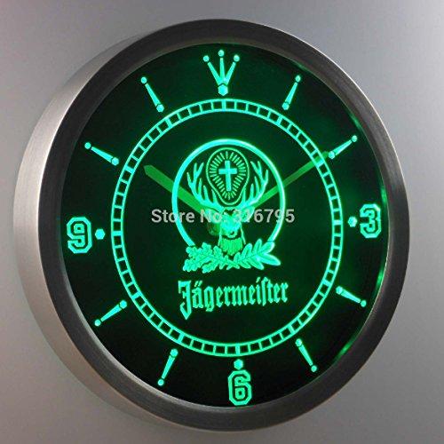 Wanduhr-Jägermeister-Mania Grün Neon-LED-Uhr - Grün Sleeper