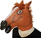 Horse Mask,Latex Halloween Animal Masks Horse Head Masks Costume for Adults and Kids by XIAO MO GU