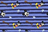 Mickey Mouse Jersey Stoff - Mickey Mouse blau gestreift -