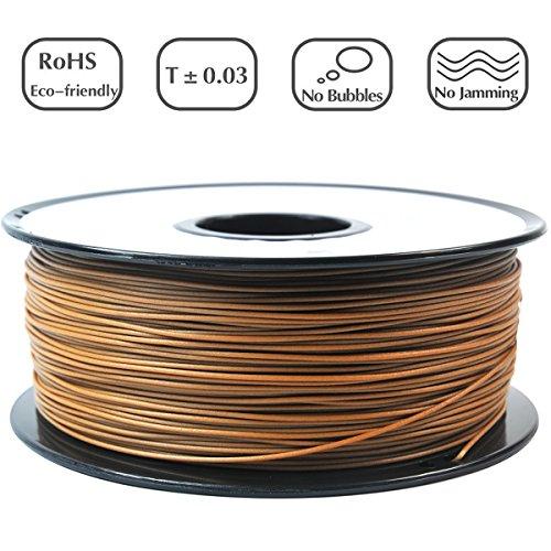 Priline wood-1kg 1.753D stampante filamento, Dimensional precisione +/-0.03mm, bobina da 1kg, 1.75mm, legno