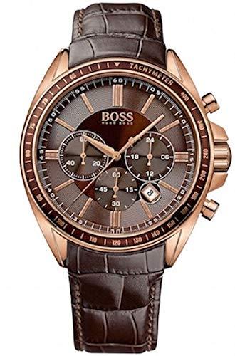 Hugo Boss Herren-Armbanduhr Chronograph Quarz Leder 1513093