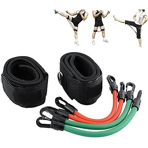 Das leben Cinética Velocidad Agilidad Entrenamiento Fuerza de Resistencia de Pierna Banda Elástica Velocidad de Saltos- Kit de 4 Tubos ABS de Kick Boxing Tailandés Puñetazo Karate