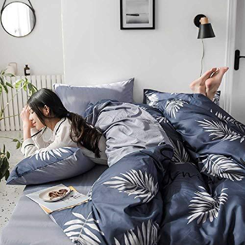 CHINCI GUO Baumwolle, Kleine, Frisch Vier Stück Baumwolle, bettwäsche, bettdecken Betten - und rot nordische Wind DREI Stück Hibiskus - warme Sommer - Design-bettwäsche-bettdecken Echo