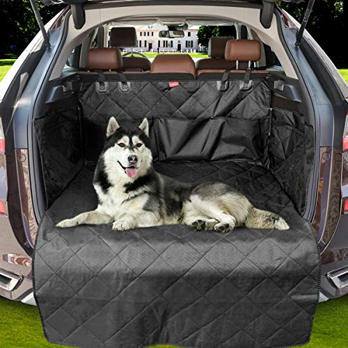 MATCC Telo Auto per Cani Protezione Bagagliaio Auto Copertura Universale per Bagagliaio Impermeabile Antiscivolo Coprisedile Posteriore 2 Borse di Stoccaggio di Grandi Dimensio
