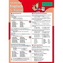 PONS Englisch 5. Klasse auf einen Blick: Die kompakte Übersicht für das ganze Schuljahr (PONS Auf einen Blick)