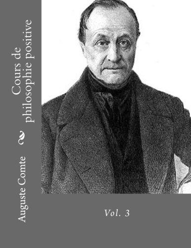 Cours de philosophie positive vol. 3