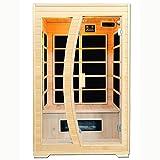 Artsauna Infrarotkabine/Wärmekabine Schweden 120 mit Flächenstrahlern & Hemlockholz | Infrarotsauna mit Glasfront für 2 Personen
