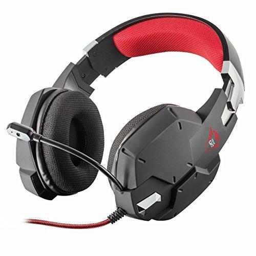 Trust gxt 322 cuffie da gioco, stereo, nero