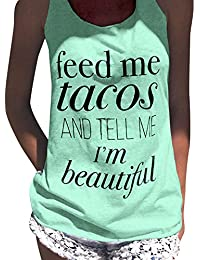 Juleya Summer Loose T-Shirt Mujer Ropa Letras Camisetas de Impresión Tops O-Neck